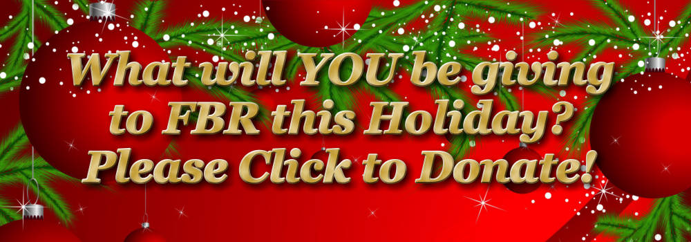 What will YOU give to FBR – holiday slider